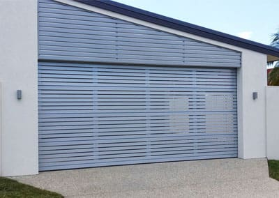 Aluminium Slatted Garage Door