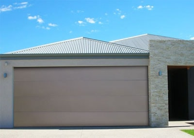 DecoVogue® Garage Door - Flatline Profile, Bronze colour