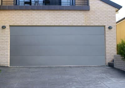 DecoVogue® Garage Door - Flatline Profile, Titanium colour