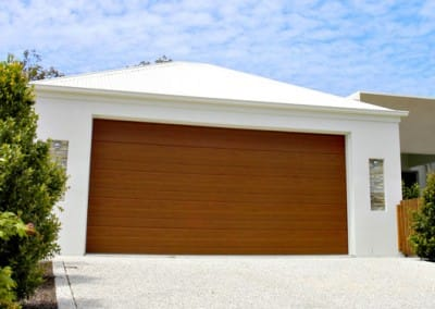 DecoWood® Garage Door - Slimline profile, Bush Cherry colour
