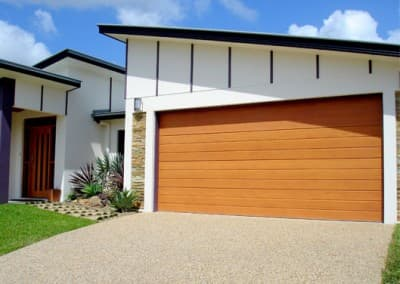 DecoWood® Garage Door - Slimline profile, Casuarina colour