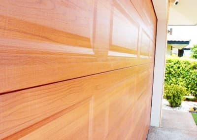DecoWood® Garage Door - Ranch profile, Western Red Cedar colour