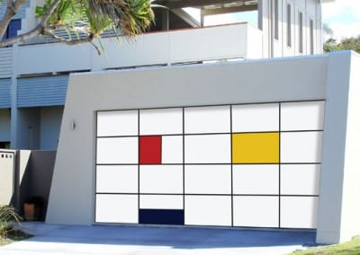 Inspirations® garage door - aluminium composite panels
