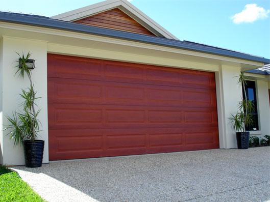 Colorbond® Garage Door - Ranch profile Manor Red colour & Colorbond® Range | | Dynamic Door Service pezcame.com
