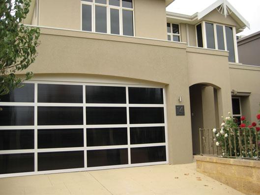 Inspirations 174 Garage Door Aluminium Frame With Dark