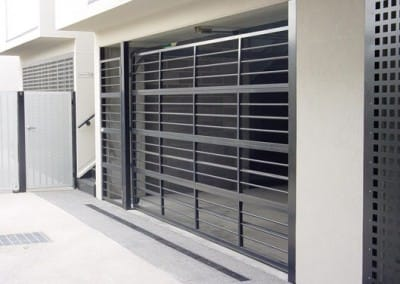 Aluminium Bar Grille Sectional Garage Door