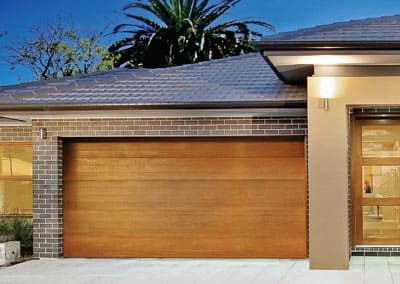 Biowood garage door